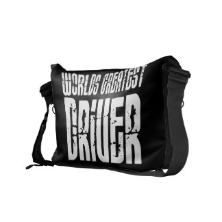 Motor Sports Racing Drivers Worlds Greatest Driver Messenger Bag