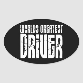 Motor Sports Racing Drivers Worlds Greatest Driver Oval Sticker