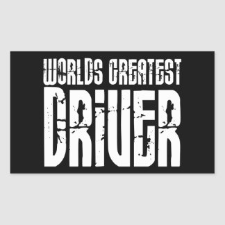Motor Sports Racing Drivers Worlds Greatest Driver Rectangular Sticker