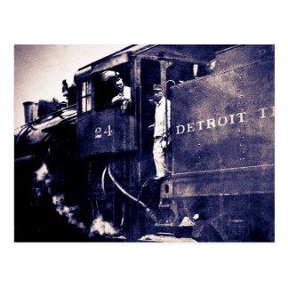 Motor terminal #24 del ferrocarril de Detroit Postal