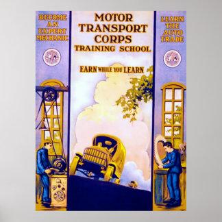 Motor Transport Corps ~ Vintage World War 1. Poster