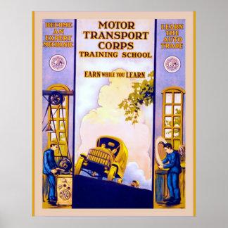 Motor Transport Corps ~ Vintage World War 1 Print