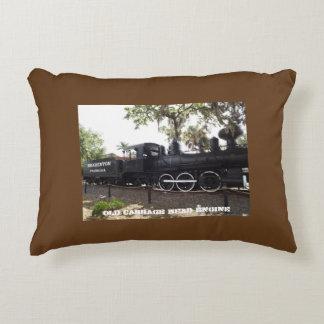 Motor viejo Bradenton la Florida del tren de la Cojín Decorativo