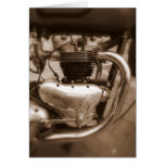 Motor viejo de Triumph Felicitaciones