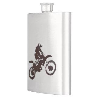 Motor X Silhouette Flask