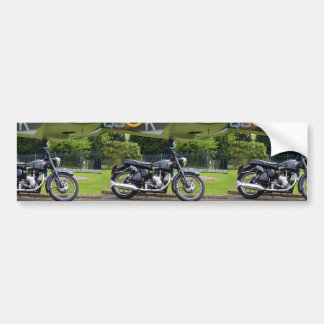 Motorbike And Spitfire Bumper Sticker