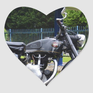 Motorbike And Spitfire Heart Sticker