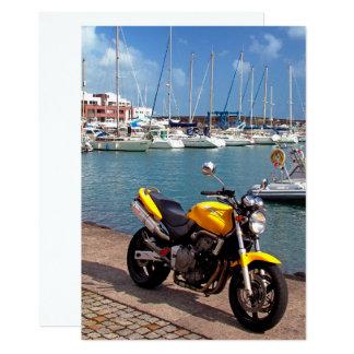 Motorbike at the marina card