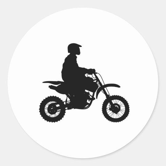 motorbike classic round sticker
