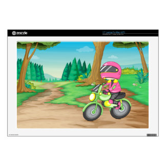 """Motorbike Decals For 17"""" Laptops"""