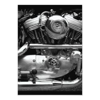 Motorbike Engine Invitation