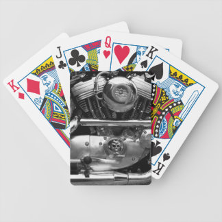 Motorbike Engine Playing Playing Cards