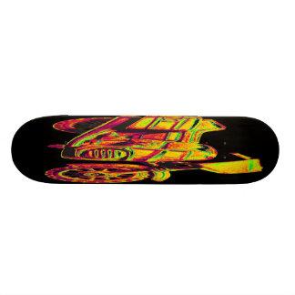 Motorbike, Gold,Golden Yellow on Black Back Skate Decks