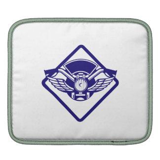 Motorbike Handlebar Headlamp Wings Diamond Retro Sleeves For iPads