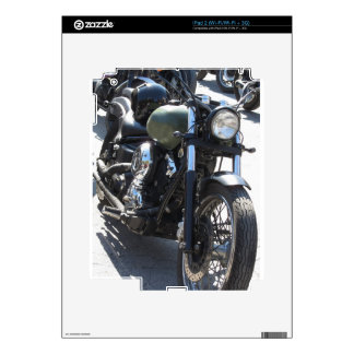 Motorbike in the parking lot . Outdoors lifestyle Decals For iPad 2