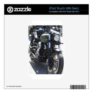 Motorbike in the parking lot . Outdoors lifestyle iPod Touch 4G Skin