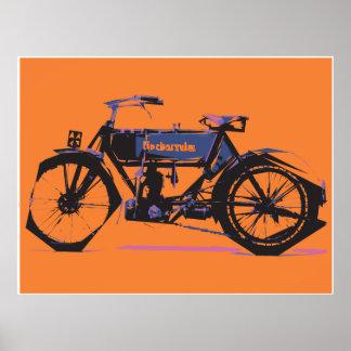 Motorbike in transit poster