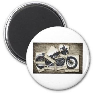 Motorbike 2 Inch Round Magnet