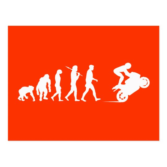 Motorbike motorcycle Moto GP bikers evolution Postcard