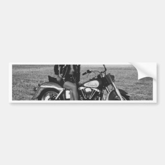 Motorbike Pinup Girl Bumper Sticker
