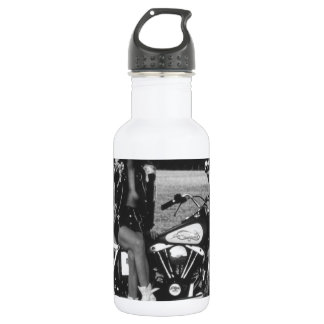 Motorbike Pinup Girl 18oz Water Bottle