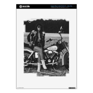 Motorbike Pinup Girl iPad 3 Decals