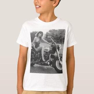 Motorbike Pinup Girl T-Shirt