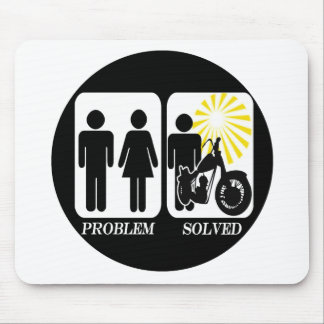 Motorbike Problem Solved Mouse Pad