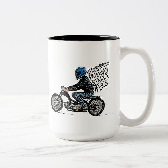 Motorbike racing Two-Tone coffee mug