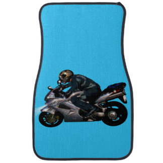 Motorbike Rider Motorcyclist Biker design Car Floor Mat
