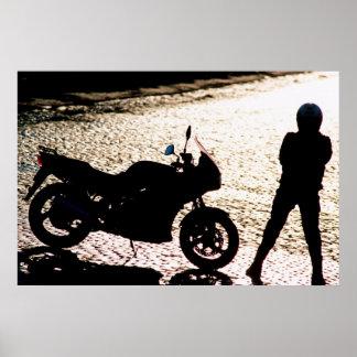 Motorbike silhouet poster
