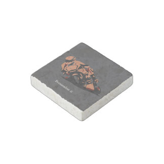 Motorbike Stone Magnet