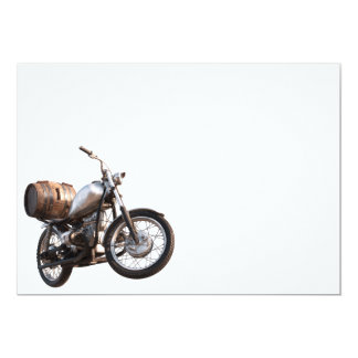 Motorbike with a barrel of wine card