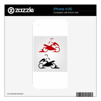 Motorbike with a person wearing helmet iPhone 4S decal