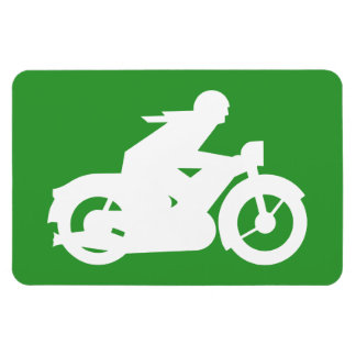 Motorbiker Silhouette Sign Magnet