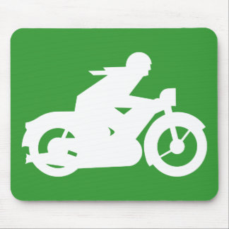 Motorbiker Silhouette Sign Mouse Pad