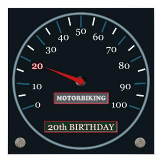 Motorbiking 20th Birthday Invitation