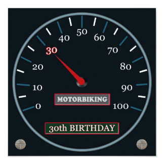 Motorbiking 30th Birthday Invitation