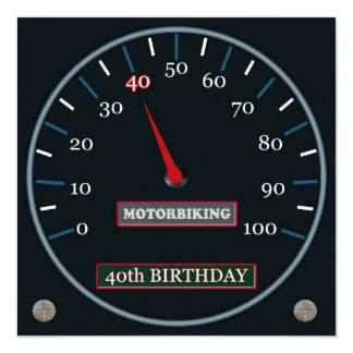 Motorbiking 40th Birthday Invitation