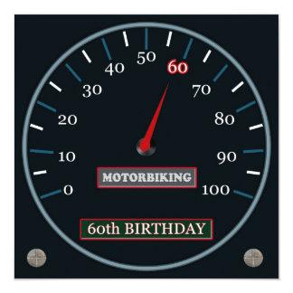 Motorbiking 60th Birthday Invitation