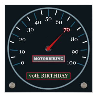 Motorbiking 70th Birthday Invitation