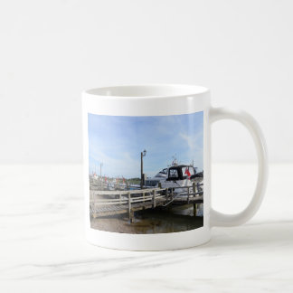 Motorboat On The River Blyth Coffee Mugs