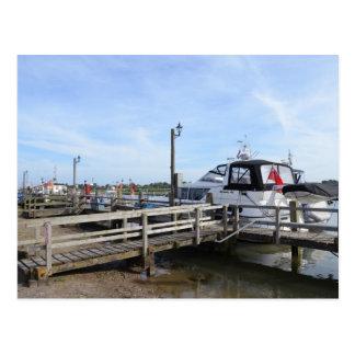 Motorboat On The River Blyth Postcard