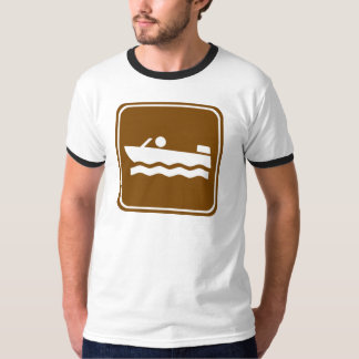 Motorboating Highway Sign T-Shirt