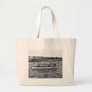 Motorboating on the Hudson River, 1910 Large Tote Bag