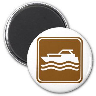 Motorcraft / Pleasure Boating Highway Sign 2 Inch Round Magnet