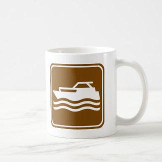 Motorcraft / Pleasure Boating Highway Sign Coffee Mug
