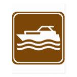 Motorcraft / Pleasure Boating Highway Sign Postcard
