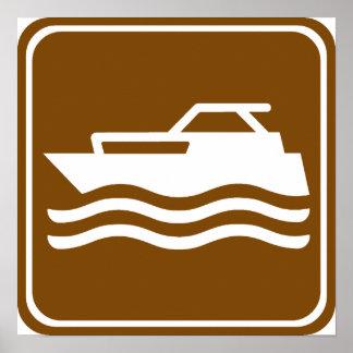 Motorcraft / Pleasure Boating Highway Sign Poster