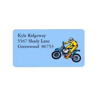 Motorcross Address Label